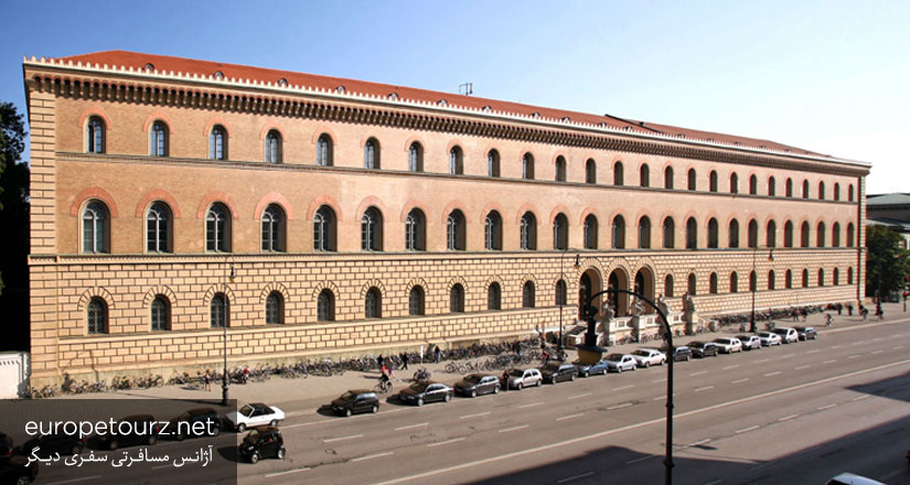 کتابخانه ی ایالتی باواریا - کاخ ها، قلعه ها و ساختمان های مهم مونیخ