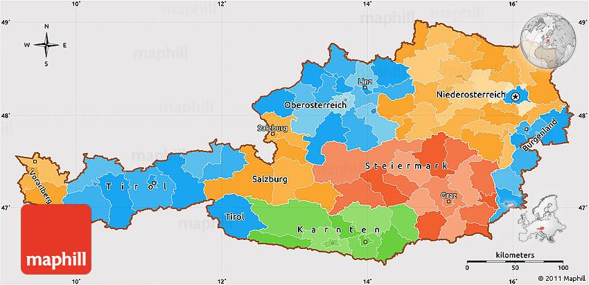 نقشه شهرهای اتریش