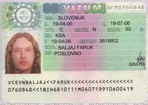 روند درخواست روادید اسلوونی