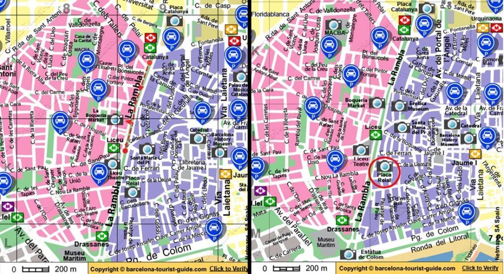 نقشه بارسلونا